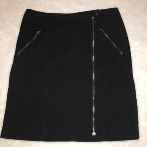 Banana Republic Black Jean Zipper Skirt Size 6
